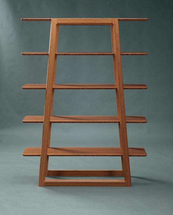 """46.55"""" x 13.25"""" x 61.8"""" Bookshelf, Caramelized"""