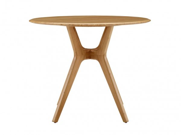 """36.06"""" x 36.06"""" x 29.53"""" Round Dining Table, Caramelized"""