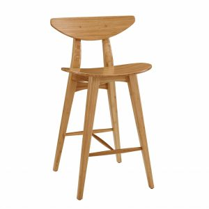 """20.25"""" x 19.95"""" x 37.1"""" Counter Height Stool, Caramelized, (Set of 2)"""