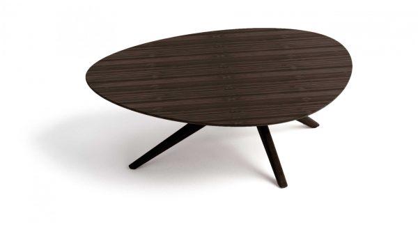 "46.6"" x 33.85"" x 16"" Coffee Table, Black Walnut"