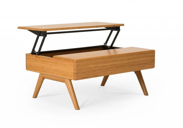 """36.9"""" x 27"""" x 16"""" Lift Top Coffee Table, Caramelized"""