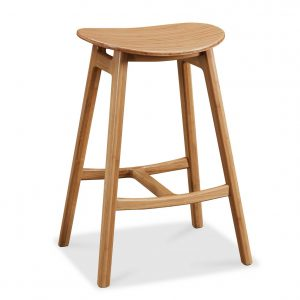 """19.9"""" x 15.6"""" x 27.5"""" Counter Height Stool, Caramelized, (Set of 2)"""