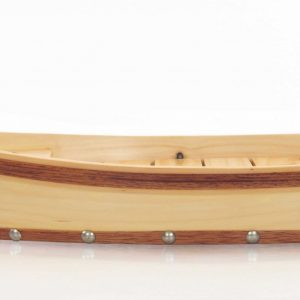 """6.25"""" x 16.75"""" x 3.37""""  Small, Wooden, Sushi Boat - Serving Tray"""