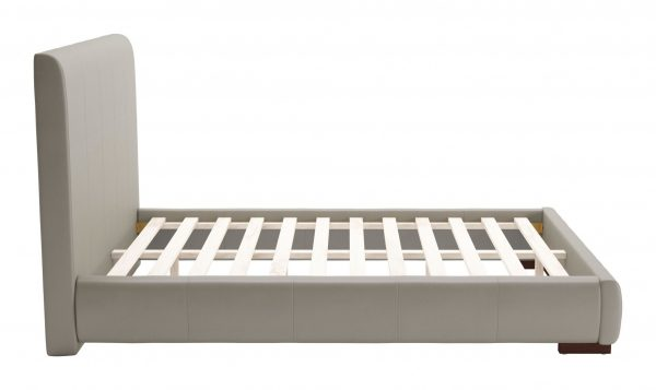 """62.2"""" x 83.9"""" x 43.5"""" Gray, Leatherette, Plywood, MDF, Full Bed"""