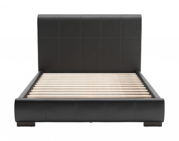 """62.2"""" x 83.9"""" x 43.5"""" Black, Leatherette, Plywood, MDF, Full Bed"""