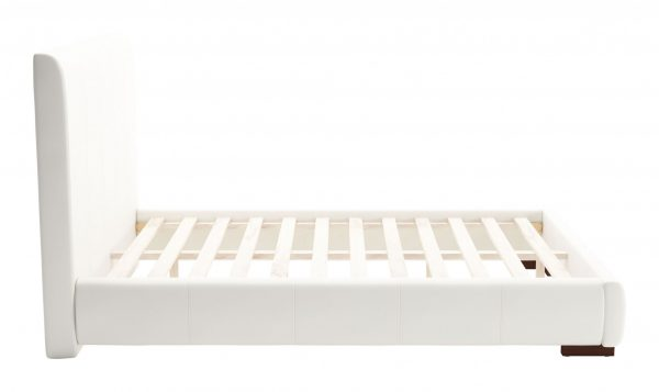 """62.2"""" x 83.9"""" x 43.5"""" White, Leatherette, Plywood, MDF, Full Bed"""