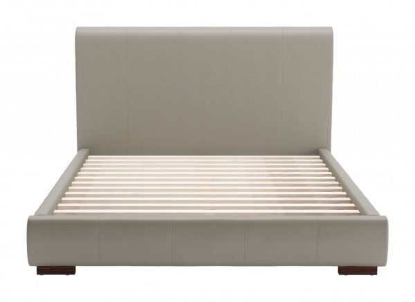 """68.5"""" x 88.6"""" x 43.5"""" Gray, Leatherette, Plywood, MDF, Queen Bed"""
