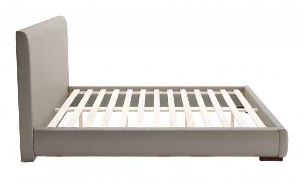 """83.9"""" x 88.6"""" x 43.5"""" Gray, Leatherette, Plywood, MDF, King Bed"""