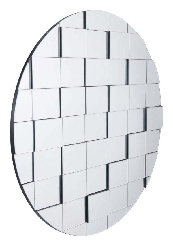"""39.4"""" x 1.4"""" x 39.4"""" Mirror, Mirror & MDF, Round Mirror"""