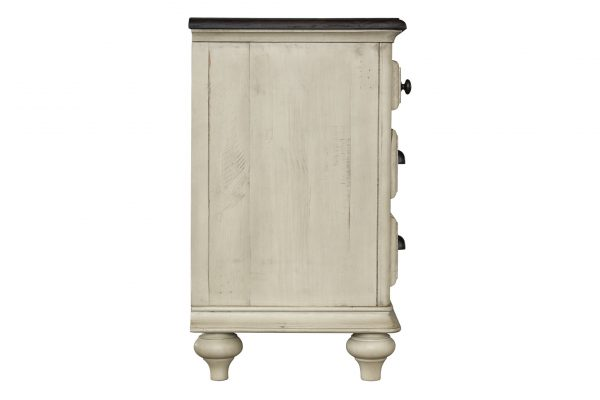 """27"""" x 17"""" x 28"""" Two Tone, Solid Wood, Drawer Nightstand"""