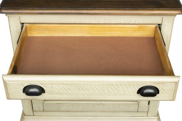 """29"""" x 17"""" x 30"""" Two Tone, Solid Wood, Door Nightstand"""