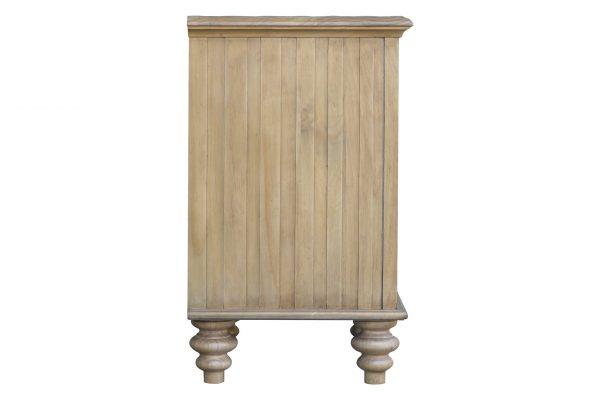 """26"""" x 17"""" x 28"""" Wood, Basket Nightstand"""