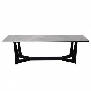 """47.25"""" X 23.63"""" X 13.78"""" Coffee Table Top in Italian Ash Gray Ceramic Glass"""