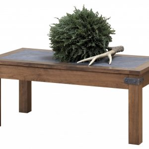"""44"""" x 22"""" x 19"""" Wooden Rock Tavern Stain Coffee Table"""