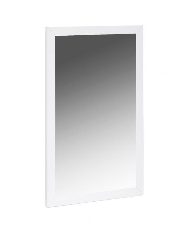 """34"""" X 3"""" X 50"""" White Glass Mirror"""