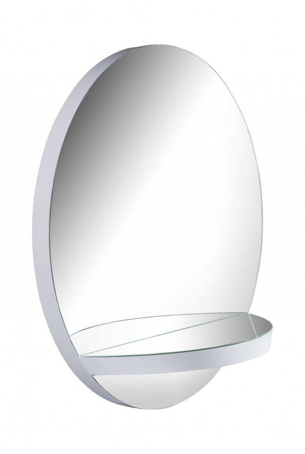 "47"" X 15"" X 47"" Gloss White Glass Mirror"