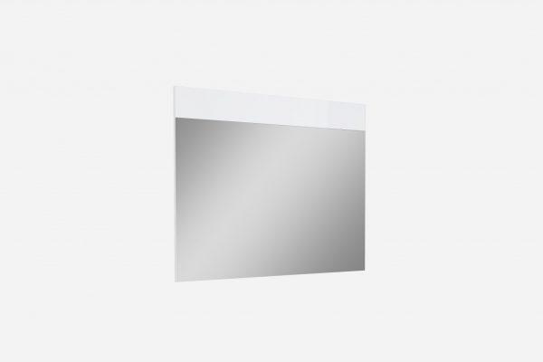 "63"" X 1"" X 47"" Gloss White Glass Mirror"