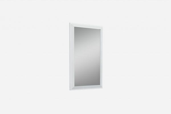 "32"" X 2"" X 51"" Gloss White Glass Mirror"
