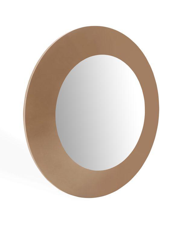 "47"" X 3"" X 47"" Gloss Gold Glass Mirror"