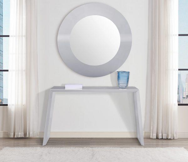 "47"" X 3"" X 47"" gloss Gray Glass Mirror"