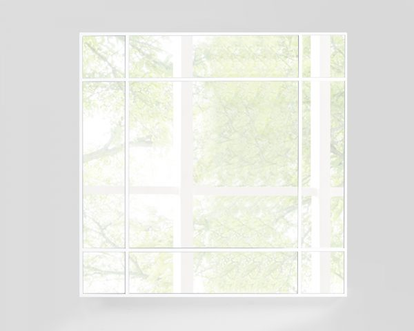 "40"" X Gloss White Glass Square Mirror"