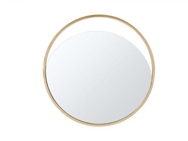 "40"" X 1.5"" X Black Glass Large Round Mirror"