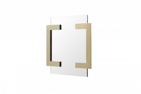 """35"""" X 35"""" X 2"""" Polished Gold Stainless Steel Mirror"""