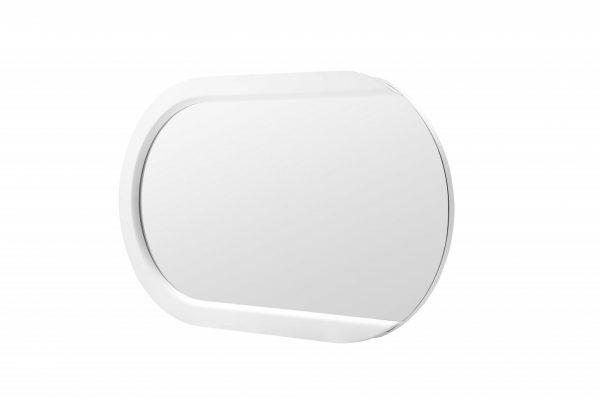 "53"" X 31"" X 2"" White Stainless Steel Mirror"