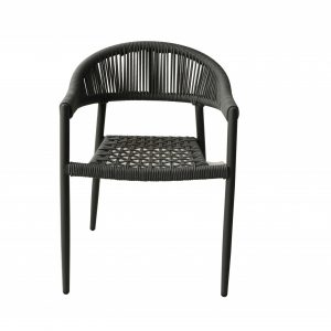 """22"""" X 23"""" X 31"""" Gray Aluminum Dining Armed Chair"""