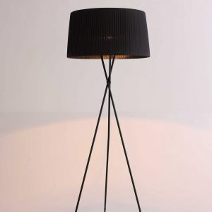 "20"" X 20"" X 69"" Black Carbon Floor Lamp"