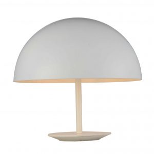"16"" X 16"" X 16"" White Aluminum Table Lamp"