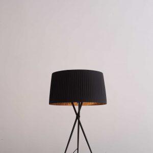 "18"" X 18"" X 29.5"" Black Carbon Steel Table Lamp"