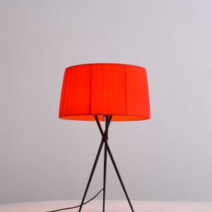 """18"""" X 18"""" X 29.5"""" Red Carbon Steel Table Lamp"""