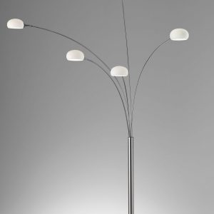 "13.5"" X 56"" X 86"" Brushed steel Metal Arc Lamp"