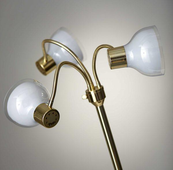 """30""""  X 30""""  X 69""""  Gold Metal 3-Arm Floor Lamp"""