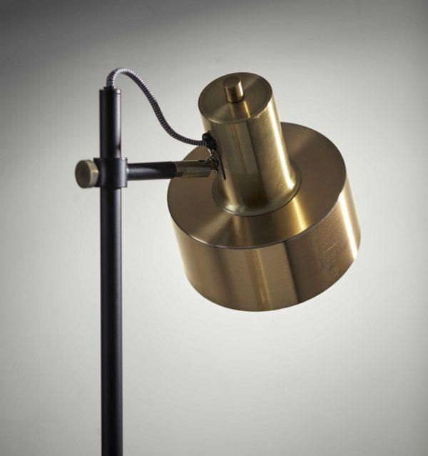 "8"" X 14"" X 22.5"" Brass Metal Desk Lamp"