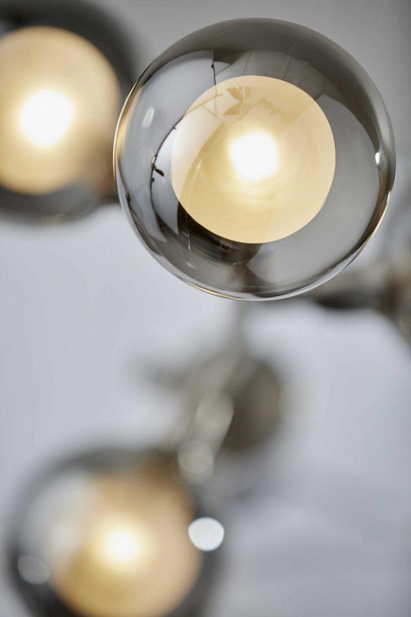 """10"""" X 10"""" X 62.5"""" Brushed steel Metal LED Floor Lamp"""