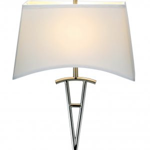 "18"" X 10"" X 62"" Brushed Steel Metal Floor Lamp"