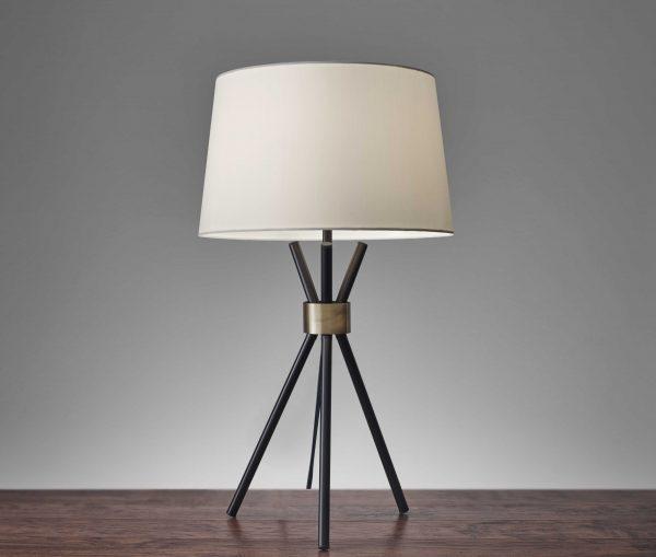 "14.5"" X 10.75"" X 25.5"" Black Metal Table Lamp"