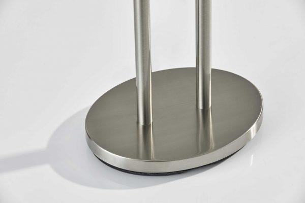 "19"" X 9"" X 62"" Brushed steel Metal Floor Lamp"
