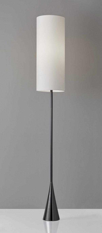 """10.5"""" X 10.5"""" X 74"""" Black Metal Floor Lamp"""
