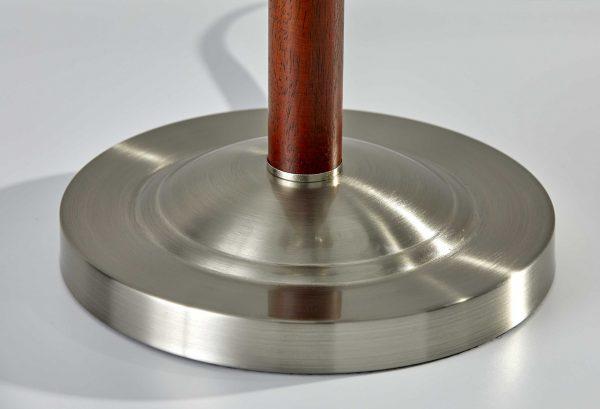 """13.5"""" X 13.5"""" X 22.5"""" Walnut Metal Table Lamp"""