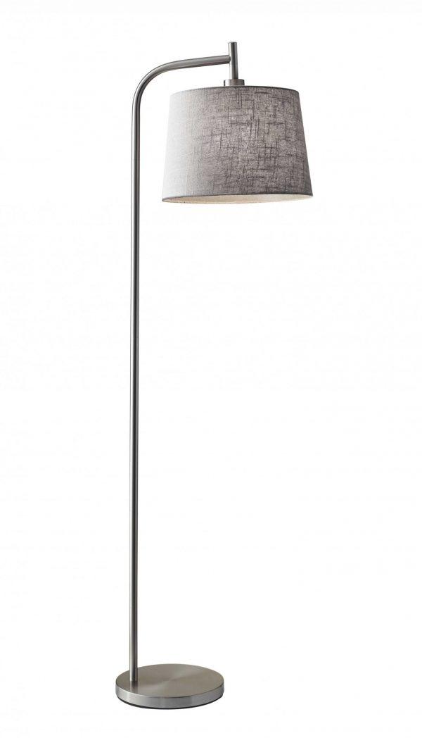 "13"" X 18""  X 58"" Brushed Steel Metal Floor Lamp"