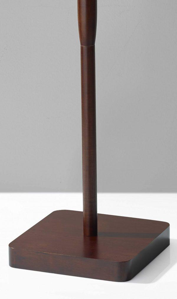 "16"" X 16"" X 58.5"" Walnut Wood Floor Lamp"