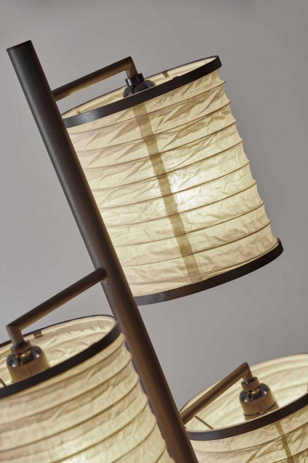 "18"" X 10"" X 74"" Bronze Metal Tree Lamp"