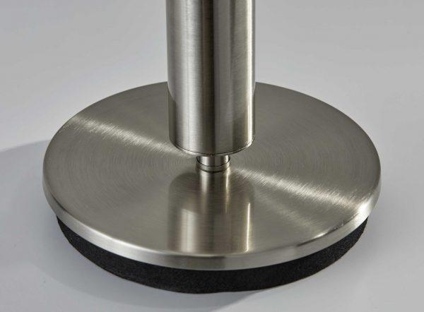 "9.75"" X 9.75"" X 27"" Brushed steel Metal Table Lamp"