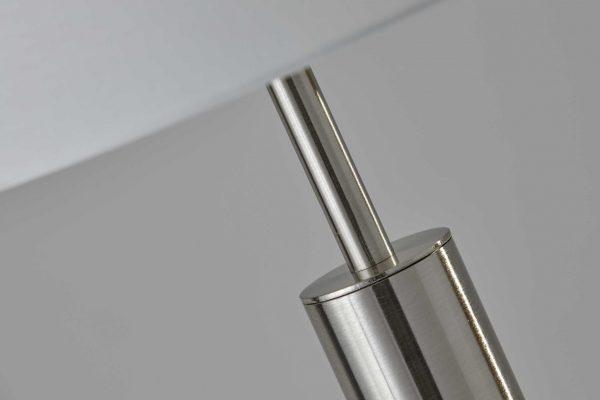 "10.5"" X 10.5"" X 58"" Brushed steel Metal Floor Lamp"