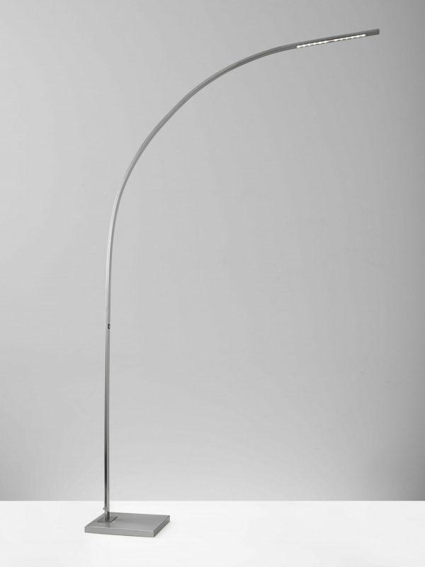 "52"" X 9.75"" X 91"" Brushed steel Metal LED Arc Lamp"