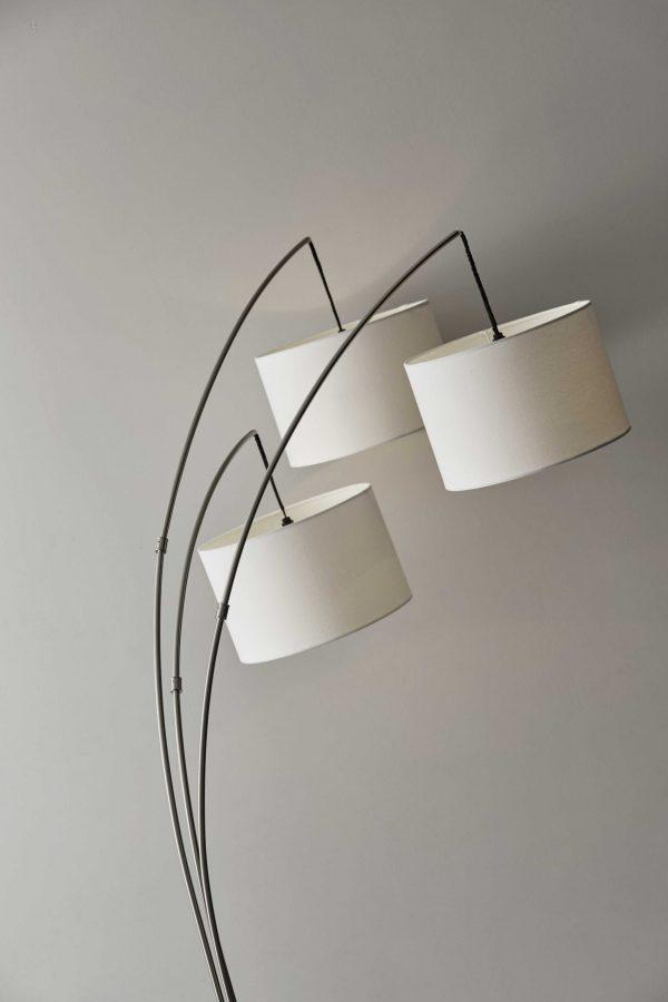 "44"" X 43"" X 74"" Brushed steel Metal Arc Lamp"