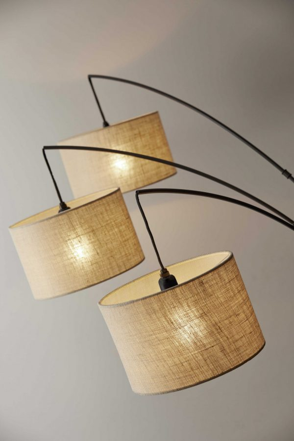 "44"" X 43"" X 74"" Bronze Metal Arc Lamp"
